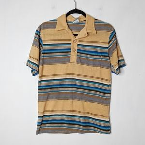 Vtg 70s 80s OP Ocean Pacific Striped Polo XS/S
